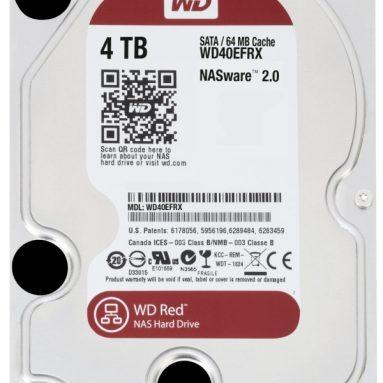 Western Digital 4 TB WD Red SATA III 5400 RPM 64 MB