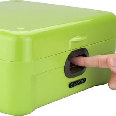 Winbest Dual Biometric Quick Access Portable Fingerprint Secure Safe Box