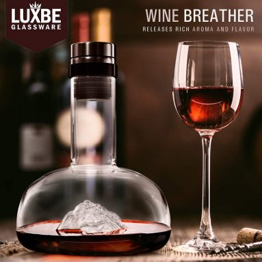 Wine Decanter Aerator Crystal Glass