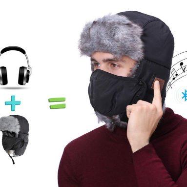 Wireless Bluetooth Hunting Hat, Winter Weatherproof Hat Cap, Trapper Trooper Hat Smart Hunting Headphone Hat