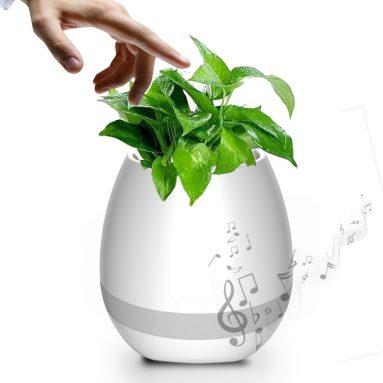Wireless Bluetooth Speaker Smart Music Playing Flowerpot with Colorful Light Night