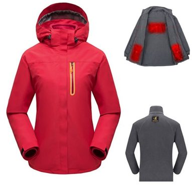 Women's USB Heated Jacket Set With Detachable Heating Inner Jacket