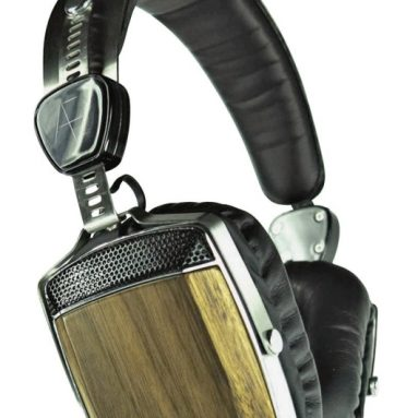 Wood and Stainless Steel Headphones