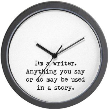 Writer's  Wall Clock