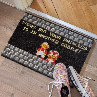 Your Princess is in Another Castle Funny Welcome Doormat for Gamers