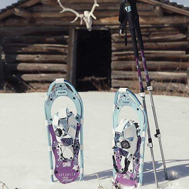 Yukon Charlies Advanced Float Spin Women's Snowshoe Kit
