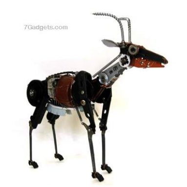 Robot animal sculptures