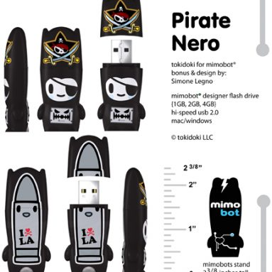Pirate Nero mimobot USB Flash Drive