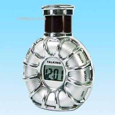 Talking Clock in Wine Flask