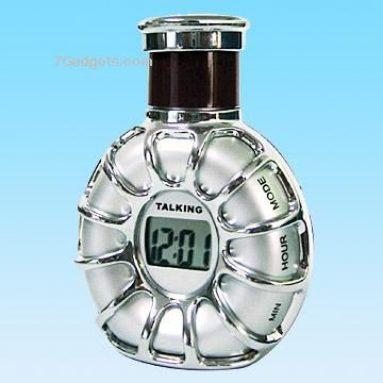 Talking Clock in Wine Flask