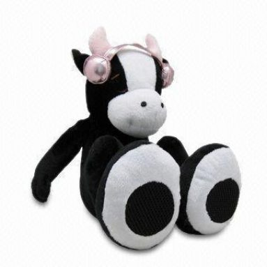 Plush toy cow stereo speaker