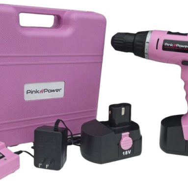 Pink Power Cordless Drill Kit for Women