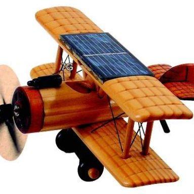Wooden Solar Biplane