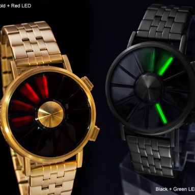 Industrially Styled Limited Edition LED Watch Design