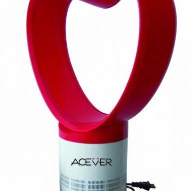 Bladeless Air Purifier Fan Remote Control Heart Shape Red