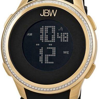 Men's Chronograph Brushed Gold Digital Diamond Watch