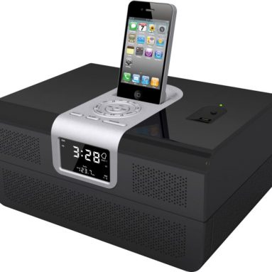 iPod docking station with hidden security drawer