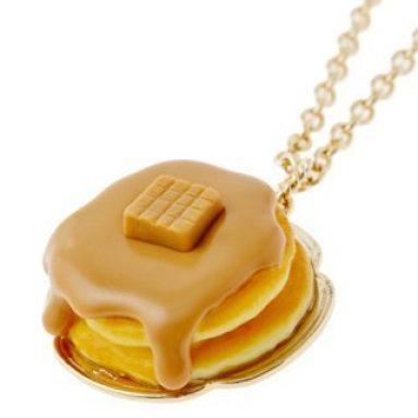 Caramel pancake necklace