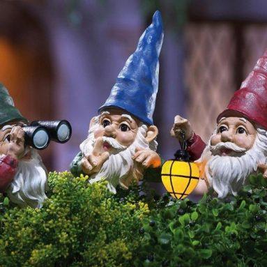 Peeping Gnomes Garden Statues