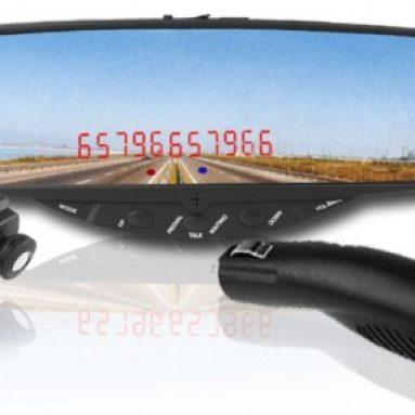Sleek Car Bluetooth Rearview Mirror