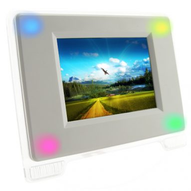 Digital Photo Frame with Multi-Color LED