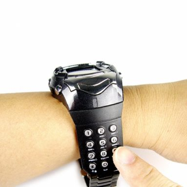 Mobile Phone Watch with Back Lit Keypad Strap