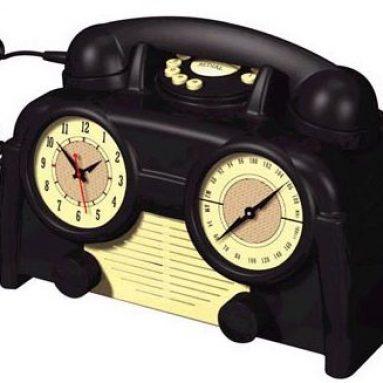 Retro Clock Radio Telephone