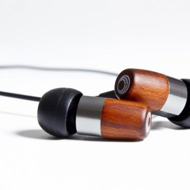 Gunmetal/chocolate in-ear monitor with passive noise isolation