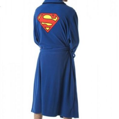 Superman Emblem Blue Robe