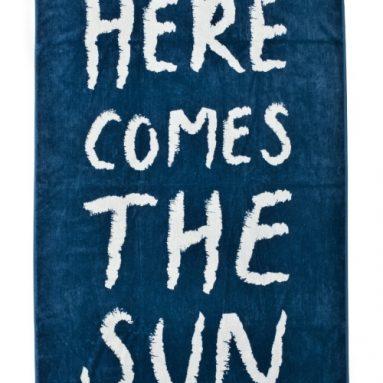 'Here Comes The Sun' Designer Oversized Beach Towel