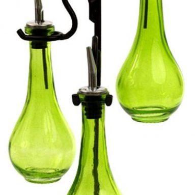 Roman Olive Oil &Vinegar Kitchen Liquid Dispenser Glass Bottles