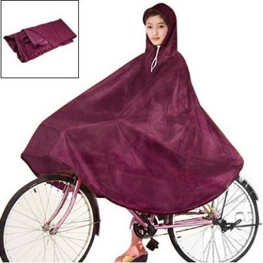 Red Cycling Bicycle Bike Raincoat Rain Cape