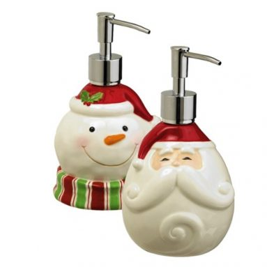 Black Friday: Santa Claus and Snowman Soap Dispenser