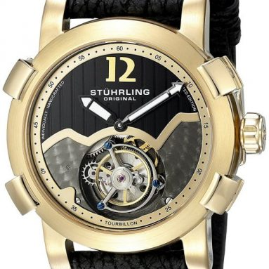 Stuhrling Original Men's 'Tourbillon' Mechanical Hand Watch