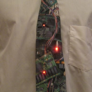 Circuit board tie LEDs