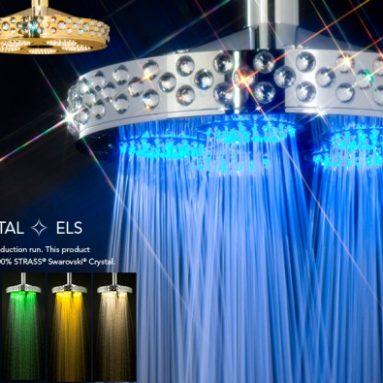 Shower with Swarovski crystal