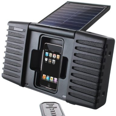 Solar Powered Sound System for iPod and iPhone