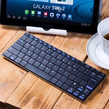 Black Aluminum 10 inches Bluetooth Wireless Mini Slim Keyboard