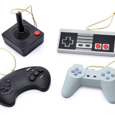 Classic Video Game Controller Ornament Set