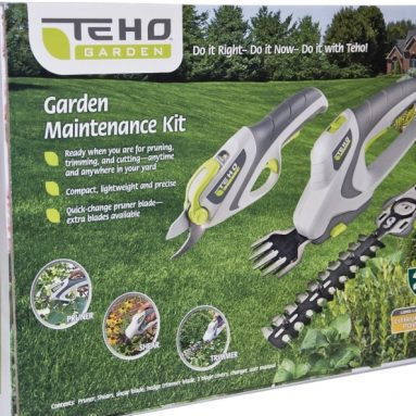 TEHO 4-volt Lithium-Ion Cordless Garden Maintenance Kit