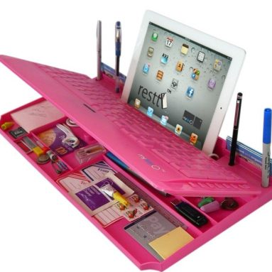 Bluetooth 6 in 1 Keyboard and Organizer with Tablet Stand Restt