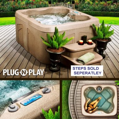 Rock Solid Simplicity Plug and Play 4 Person Spa With 12 Jets