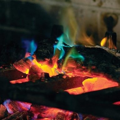 Rainbow Fireplace Flame Crystals for Wood Fires