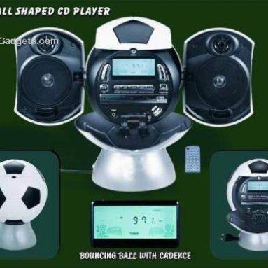 Football shape CD players