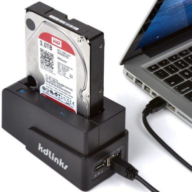 kdLinks USB 3.0/2.0 eSATA 2.5″/3.5″ SATA Hard Drive Docking Station