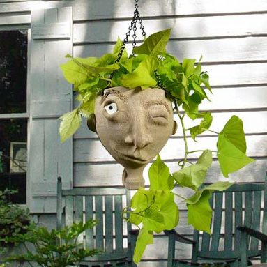 Face Jug Planter
