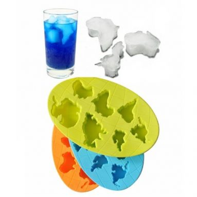 Global Continents Shape Ice cube