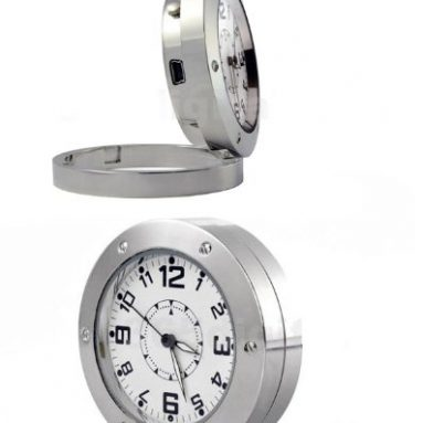 Hidden Spy Camera DV Clock Watch Motion Detection