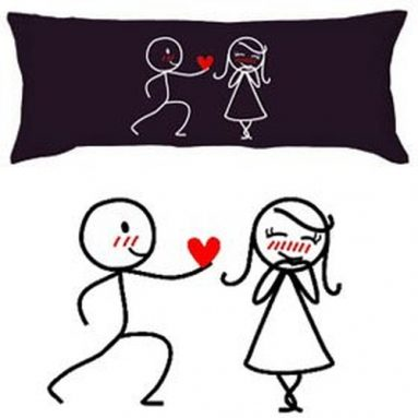 """""""My Heart Belongs to You"""" Body Pillowcase"""