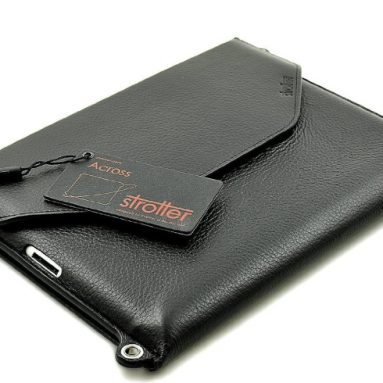 Premium leather case with strap for New iPad (2nd, 3rd, 4th Generations)